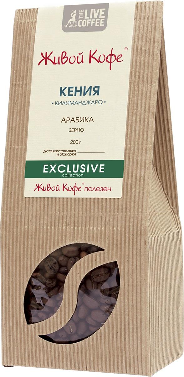 Живой Кофе Кения Килиманджаро кофе в зернах, 200 г.00000000688Живой Кофе Кения Килиманджаро - изумительный букет ягодных, лимонных и апельсиновых оттенков с легкой пряностью. Лучшим кенийским кофе считается тот, который выращен в условиях высокогорья на склонах горы Килиманджаро. Обычно кофейные деревья растут на высоте 1,3-2 км над уровнем моря. Урожай кофе Кения Килиманджаро собирается два раза в год в шесть-семь приёмов, чтобы зёрна были в меру зрелые. Весь кенийский кофе (в том числе кофе Кения Килиманджаро) закупает Кенийский совет по кофе, который классифицирует зёрна и следит за их высоким качеством.