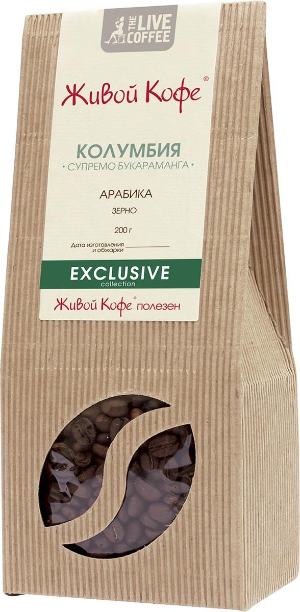Живой Кофе Колумбия Супремо Букараманго кофе в зернах, 200 г.00000000694Живой Кофе Колумбия Супремо Букараманго – это кофе, выращенный на северных склонах Восточных Кордельер. Кофейные деревья в Колумбии сажают вперемежку с банановыми пальмами, защищающими их от палящих лучей латиноамериканского солнца. Именно это вкупе с оптимальными природными условиями придаёт напитку такой оригинальный и гармоничный вкус.