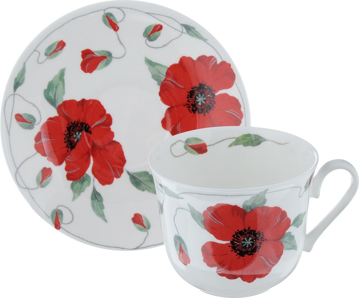 Чайная пара Roy Kirkham Бианка, 2 предметаCOBIA1101Чайная пара Roy Kirkham Бианка состоит из чашки и блюдца, изготовленных из тонкостенного костяного фарфора высшего качества, отличающегося необыкновенной прочностью и небольшим весом. Изделия оформлены цветочным рисунком. Яркий дизайн, несомненно, придется вам по вкусу. Чайная пара Roy Kirkham Бианка украсит ваш кухонный стол, а также станет замечательным подарком к любому празднику. Объем чашки: 500 мл. Диаметр чашки по верхнему краю: 10,5 см. Высота чашки: 8,5 см. Диаметр блюдца: 17 см. Высота блюдца: 2,5 см.