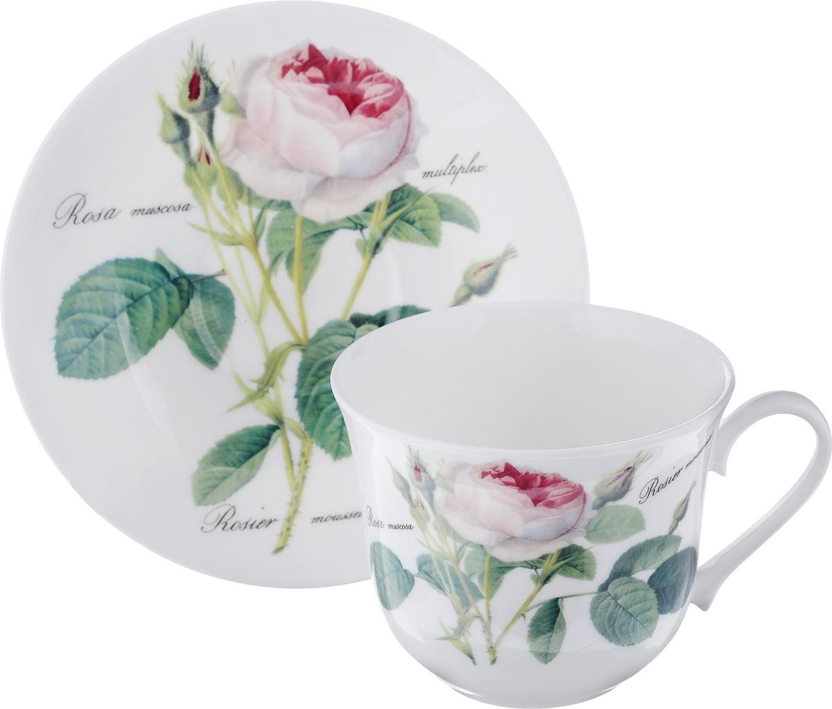 Чайная пара Roy Kirkham Роза редаут, 2 предметаXROSA1100Чайная пара Roy Kirkham Роза редаут состоит из чашки и блюдца, изготовленных из тонкостенного костяного фарфора высшего качества, отличающегося необыкновенной прочностью и небольшим весом. Изделия оформлены изображением розы. Яркий дизайн, несомненно, придется вам по вкусу. Чайная пара Roy Kirkham Роза редаут украсит ваш кухонный стол, а также станет замечательным подарком к любому празднику. Объем чашки: 500 мл. Диаметр чашки по верхнему краю: 10,5 см. Высота чашки: 8,5 см. Диаметр блюдца: 17 см. Высота блюдца: 3 см.