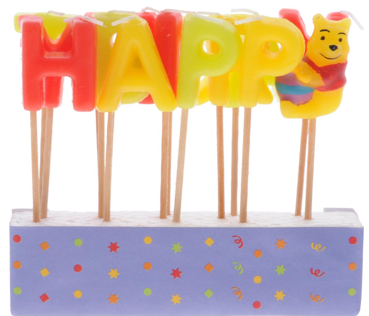 Procos Свечи-буквы для торта детские Винни Happy Birthday9294Свечи-буквы для торта Procos Винни: Happy Birthday - это оригинальные свечи, состоящие из латинских букв, с помощью которых на праздничном торте можно сложить слова Happy Birthday. Каждая свеча находится на деревянной палочке, благодаря чему зафиксировать их в торте не составит трудности. Фигурка любимого всеми Винни Пуха украсит торт. В наборе: 13 свечей-букв и 1 свечка с фигуркой Винни.
