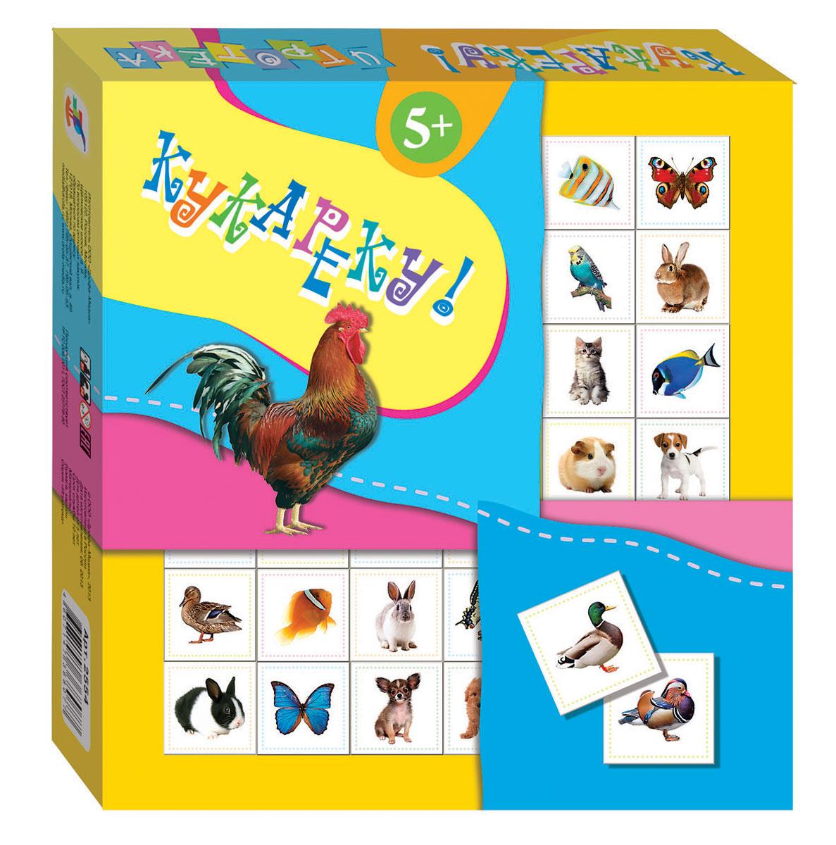 Дрофа-Медиа Настольная игра Кукареку2554Развивающая игра Кукареку! - это веселая и динамичная игра, которая прекрасно подойдет для вечеринок и семейных развлечений. В комплекте 36 игровых карточек и два варианта игры, которые подробно описаны в инструкции. Игра состоит в определенном построении карточек с цветными элементами. Игра развивает внимание, сообразительность, скорость реакции, умение действовать в коллективе.