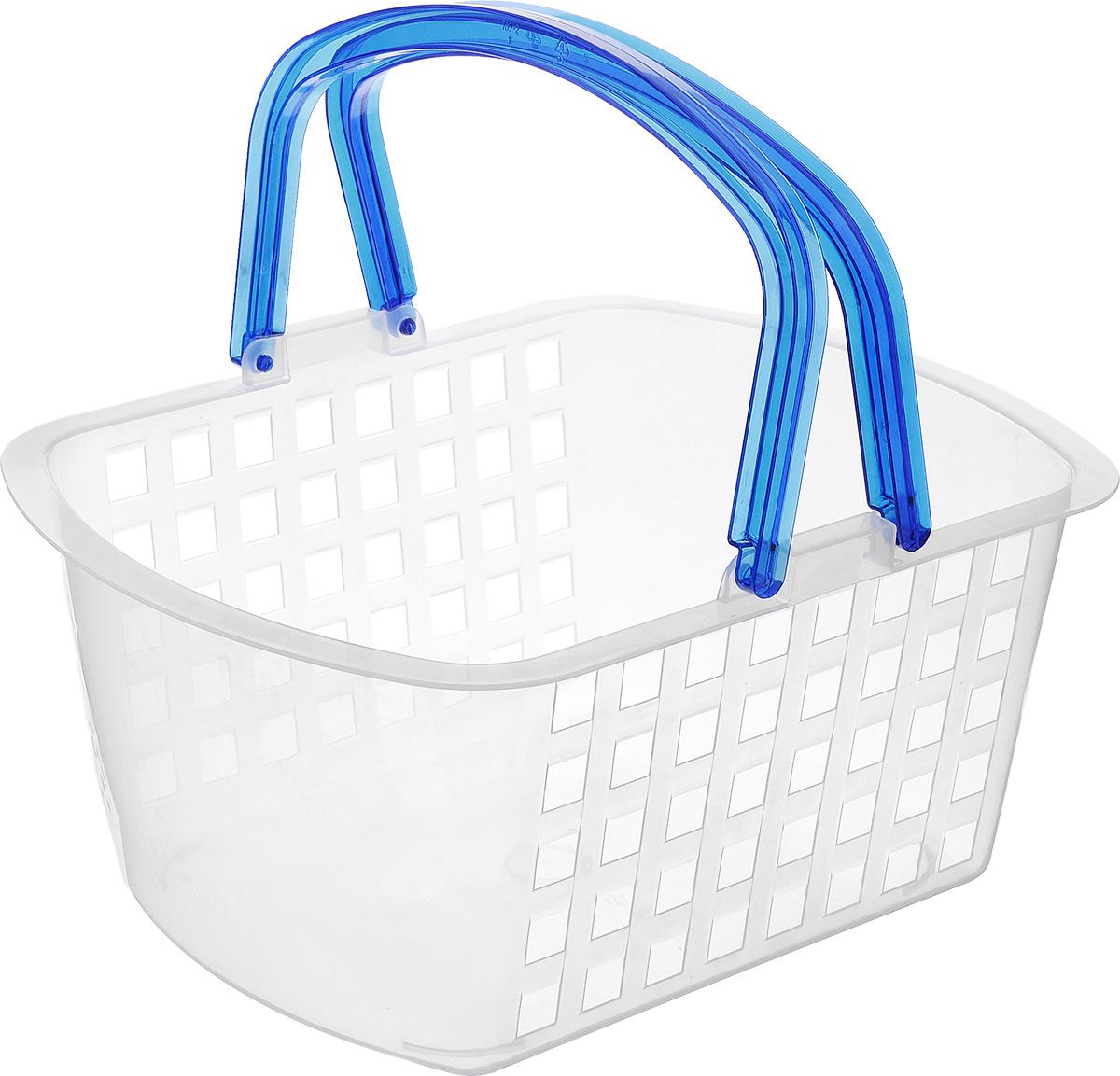 Корзинка универсальная Econova, с ручками, цвет: прозрачный, 31 х 24 х 15 смС12769Универсальная корзинка Econova изготовлена из высококачественного пищевого пластика и предназначена для хранения и транспортировки различных вещей. Корзинка подойдет как для пищевых продуктов, так и для ванных принадлежностей и различных мелочей. Изделие оснащено двумя ручками. Перфорированные стенки корзинки обеспечивают естественную вентиляцию. Универсальная корзинка Econova позволит вам хранить вещи компактно и с удобством.
