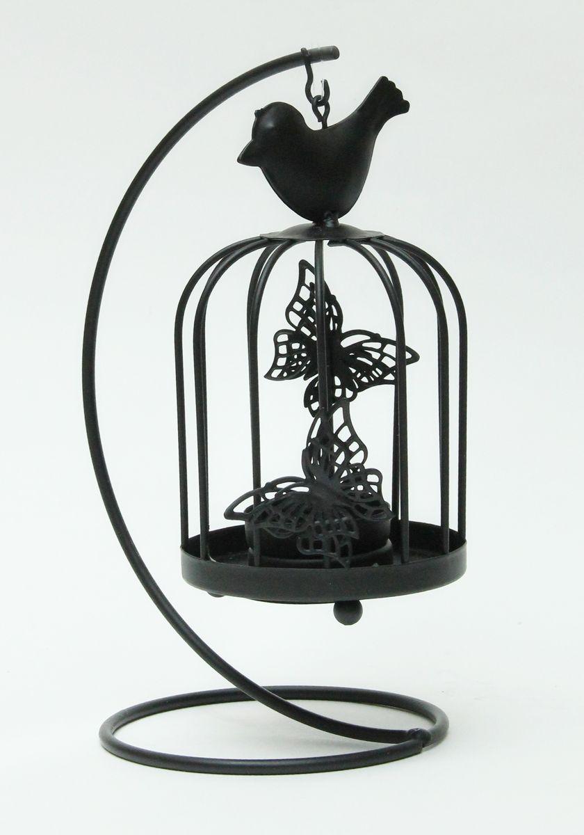 Подсвечник декоративный Феникс-Презент Клетка с черной птичкой38855