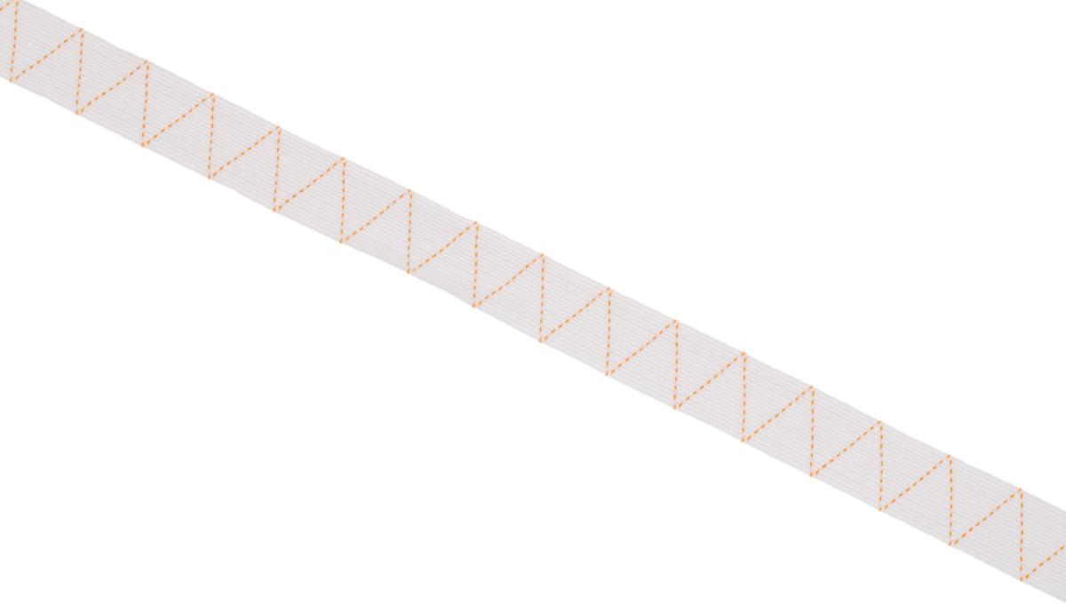Лента эластичная Prym, стандартная, цвет: белый, ширина 2 см, длина 25 м693525Стандартная лента Prym - это плетеная эластичная лента с фирменным золотистым зигзагом, которая при растяжении сужается, а резиновые нити здесь расположены равномерно. Выполнена из полиэстера (65%) и эластомера (35%). Длина: 25 м. Ширина: 2 см.