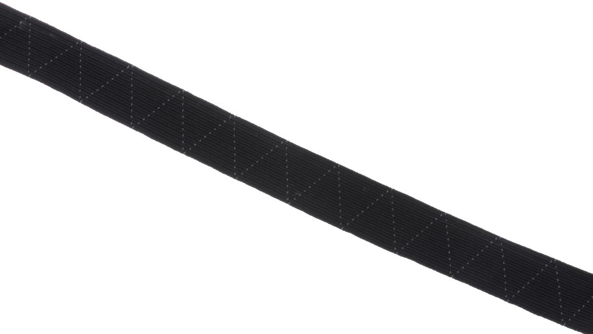 Лента эластичная Prym, стандартная, цвет: черный, ширина 2 см, длина 25 м693526Стандартная лента Prym - это плетеная эластичная лента с фирменным золотистым зигзагом, которая при растяжении сужается, а резиновые нити здесь расположены равномерно. Выполнена из полиэстера (65%) и эластомера (35%). Длина: 25 м. Ширина: 2 см.