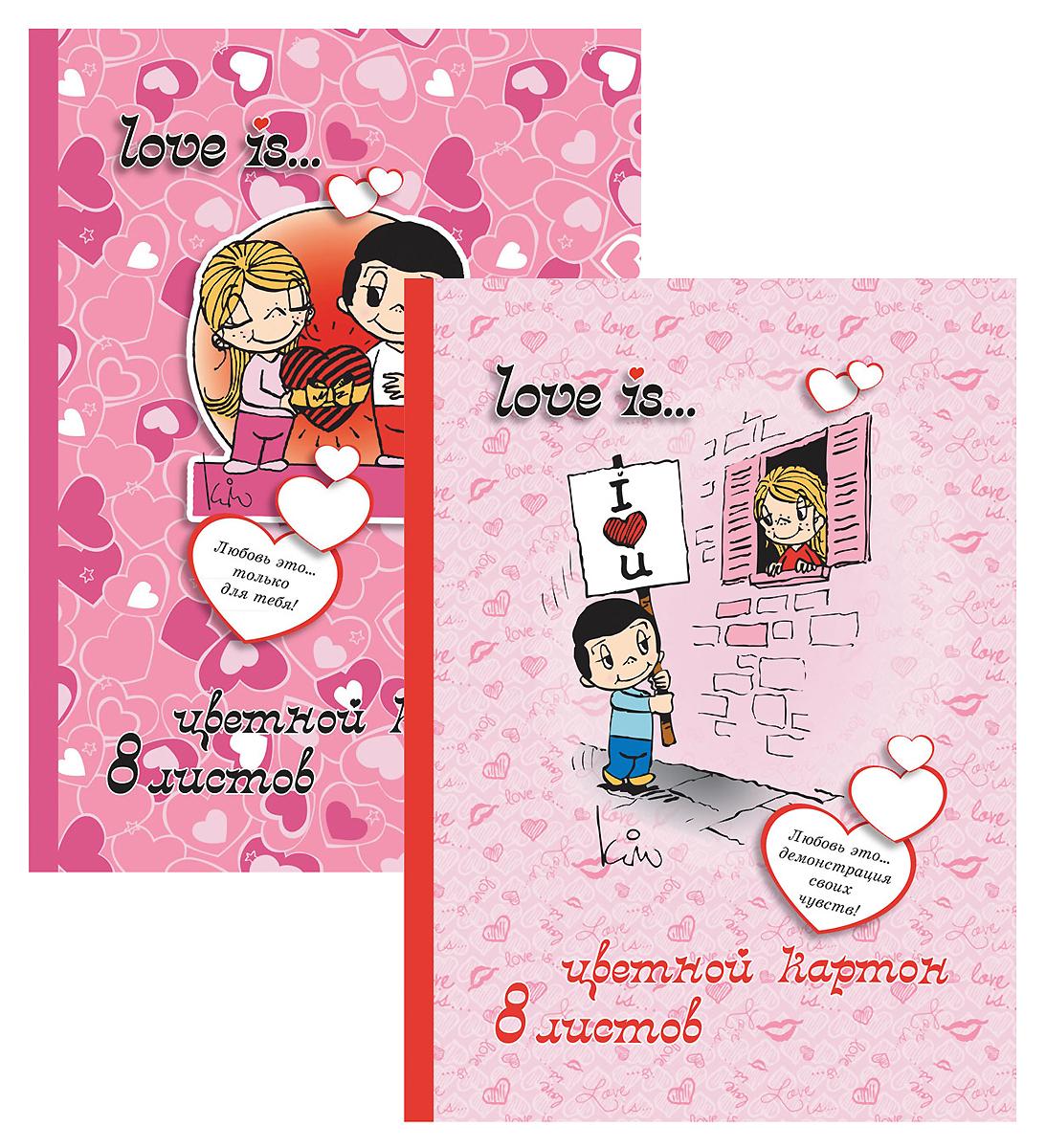 Набор цветного картона Action!: Love is, 16 цв, формат А4LI-ACC-8/8Набор цветного картона Action!: Love is позволит создавать всевозможные аппликации и поделки. Набор включает 16 листов одностороннего цветного картона формата А4. Цвета: желтый, красный, зеленый, синий, оранжевый, белый, коричневый черный. Создание поделок из цветного картона позволяет ребенку развивать творческие способности, кроме того, это увлекательный досуг. Набор упакован в картонную папку с изображением  Love is.