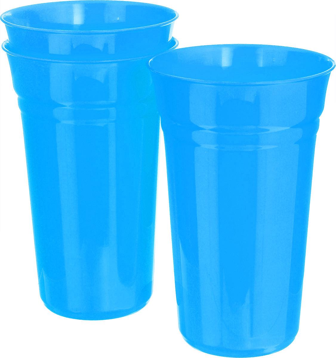 Набор стаканов Berossi Patio, цвет: голубой, 800 мл, 3 штИК12947000Набор Berossi Patio состоит из 3 стаканов, выполненных из прочного высококачественного пластика. Изделия предназначены для воды, сока и других напитков. Стильный и яркий дизайн прекрасно впишется в интерьер современной кухни. Набор Berossi Patio можно использовать дома, на даче или на пикнике. Диаметр стакана (по верхнему краю): 10 см. Высота стакана: 16 см. Диаметр основания: 6 см.