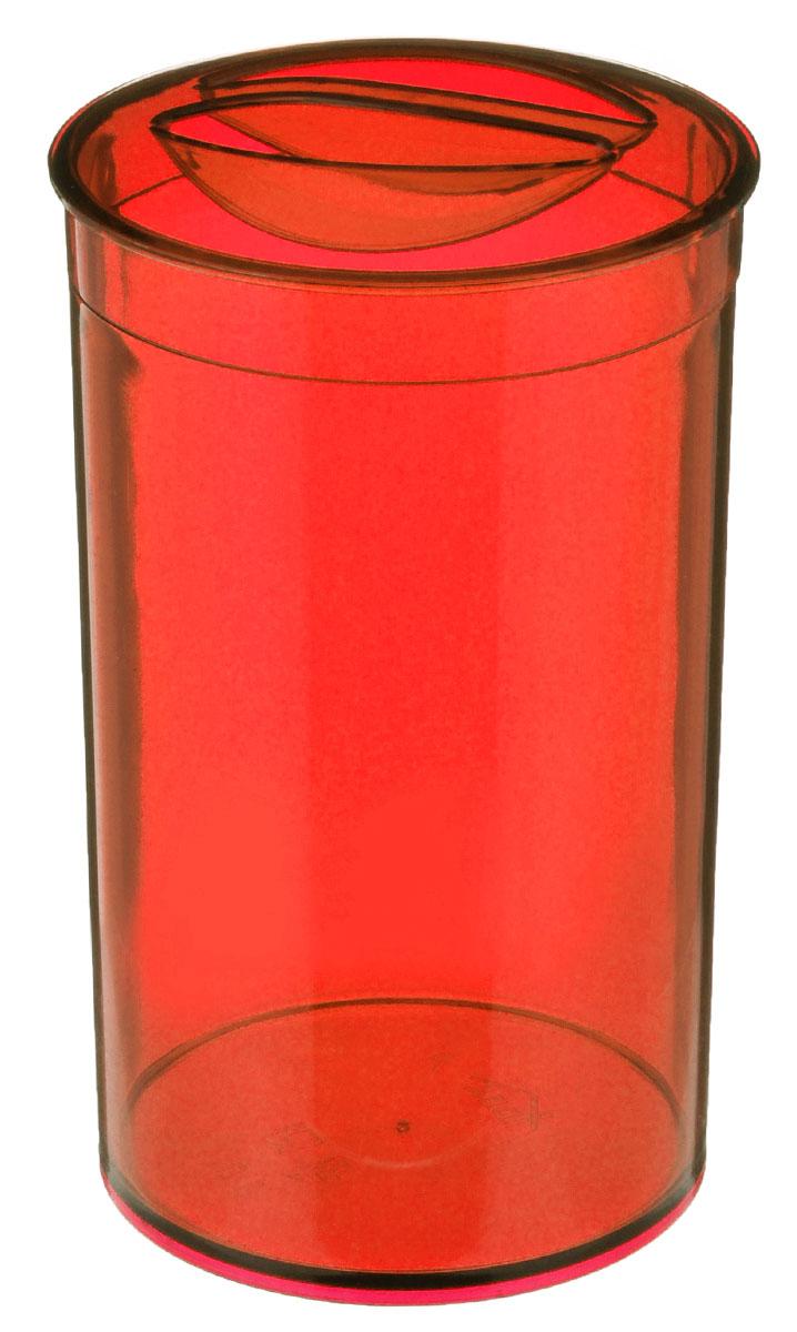 Банка для сыпучих продуктов Idea Кристалл, цвет: красный, 1 лМ 1372Банка для сыпучих продуктов Idea Кристалл изготовлена из высокопрочного пищевого полистирола. Банка оснащена плотно закрывающейся пластиковой крышкой. Благодаря этому внутри сохраняется герметичность, и продукты дольше остаются свежими. Изделие предназначено для хранения различных сыпучих продуктов: круп, чая, сахара, орехов и многого другого. Функциональная и вместительная, такая банка станет незаменимым аксессуаром на любой кухне. Не рекомендуется мыть в посудомоечной машине. Диаметр (по верхнему краю): 9,5 см. Высота банки (без учета крышки): 16,5 см.