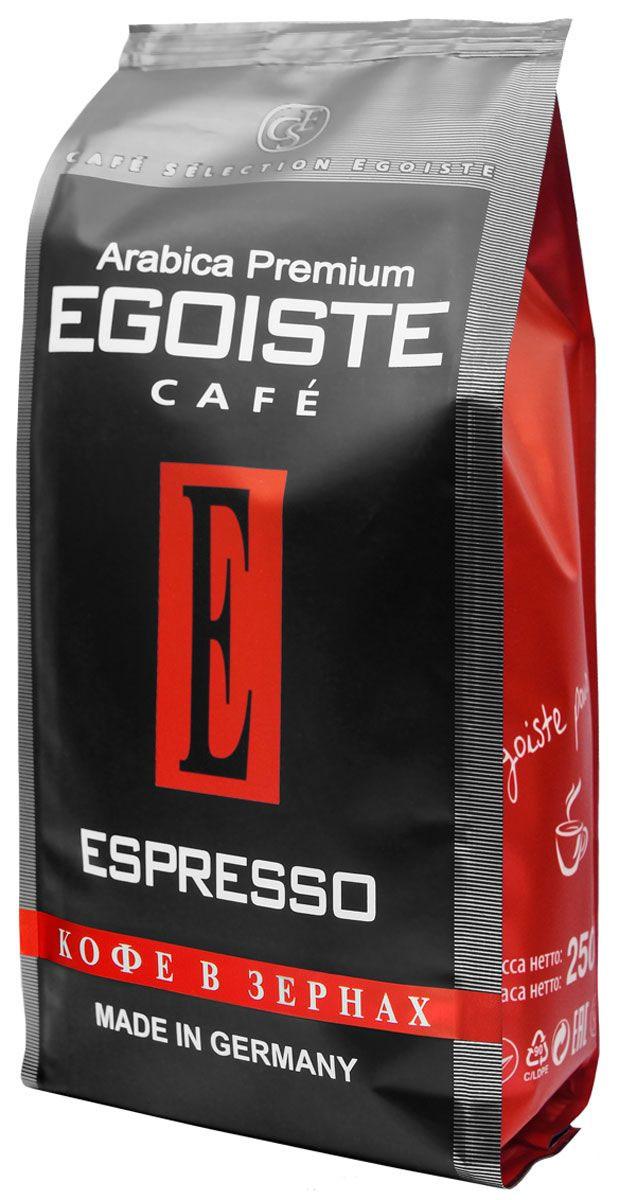 Egoiste Espresso кофе в зернах, 250 г (п/у)4260283250158Венская обжарка придает кофе Egoiste Espresso глубокий, насыщенный вкус настоящего итальянского эспрессо. Кофе с самым богатым ароматом, рекомендующийся для приготовления в кофеварке или кофе-машине.