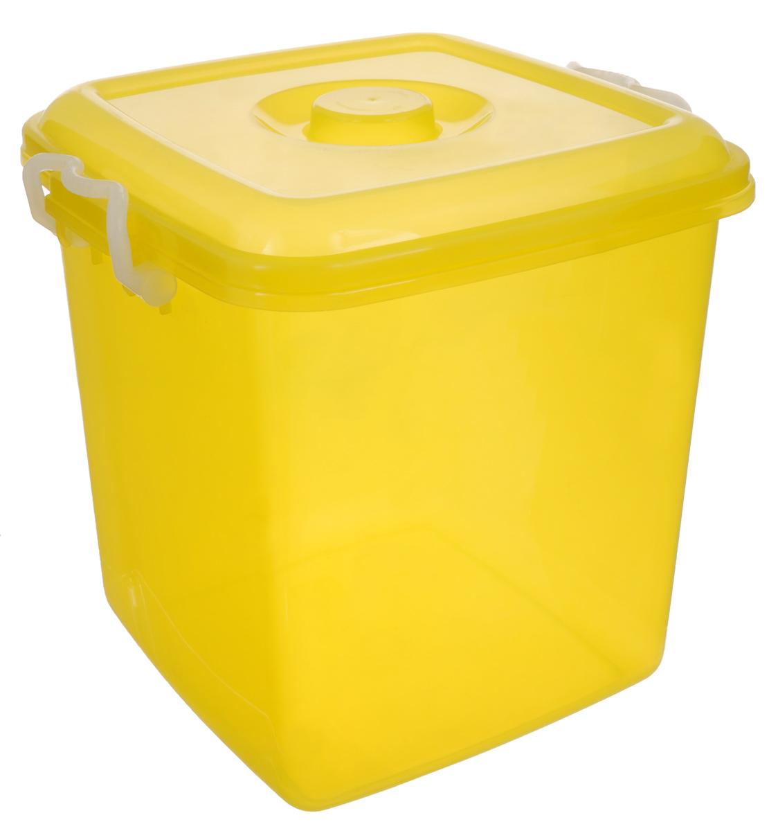 Контейнер для хранения Idea Океаник, цвет: желтый, 20 лМ 2858Контейнер Idea Океаник выполнен из высококачественного полипропилена, предназначен для хранения различных вещей. Контейнер снабжен эргономичной плотно закрывающейся крышкой со специальными боковыми фиксаторами. Объем контейнера: 20 л.