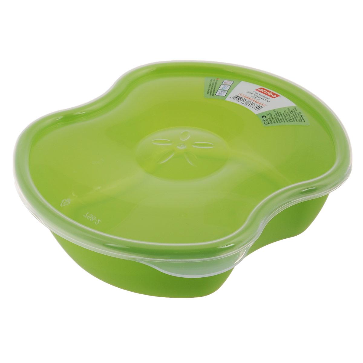 Контейнер для пищевых продуктов Phibo Eco Style, 0,8 лС11758Контейнер Phibo Eco Style изготовлен из высококачественного пластика, без содержания бисфенола А. Контейнер выполнен в форме разрезанного яблока, а декор в центре крышки напоминает сердцевину фрукта. Крышка прозрачная, легко и плотно закрывается. Контейнер устойчив к воздействию масел и жиров, легко моется. Подходит для использования в микроволновых печах, выдерживает хранение в морозильной камере, его можно мыть в посудомоечной машине.