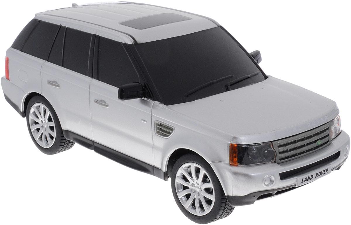 Rastar Радиоуправляемая модель Range Rover Sport цвет серебристый масштаб 1:2430300Радиоуправляемая модель Rastar Range Rover Sport станет отличным подарком любому мальчику! Все дети хотят иметь в наборе своих игрушек ослепительные, невероятные и модные автомобили на радиоуправлении. Тем более, если это автомобиль известной марки с проработкой всех деталей, удивляющий приятным качеством и видом. Одной из таких моделей является автомобиль на радиоуправлении Rastar Range Rover Sport. Это точная копия настоящего авто в масштабе 1:24. Авто обладает неповторимым провокационным стилем и спортивным характером. Потрясающая маневренность, динамика и покладистость - отличительные качества этой модели. Возможные движения: вперед, назад, вправо, влево, остановка. При движении загораются фары и стоп- сигналы. Машина работает от 3 батареек типа АА напряжением 1,5V, пульт работает 2 батареек типа АА напряжением 1,5V (не входят в комплект).