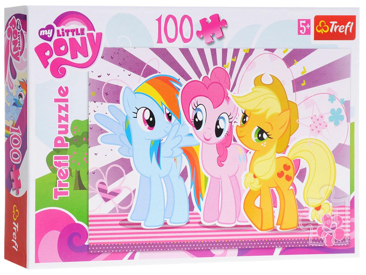 Trefl Пазл Мой маленький пони16228Пазл Trefl Мой маленький пони, без сомнения, придется по душе вашему ребенку. Собрав этот пазл, включающий в себя 100 элементов, ребенок получит красочную картинку с любимыми яркими лошадками из мультфильма My Little Pony. Собирание пазла развивает усидчивость и внимательность, а готовую картинку можно повесить на стену детской комнаты, наслаждаясь собранным своими руками изображением.