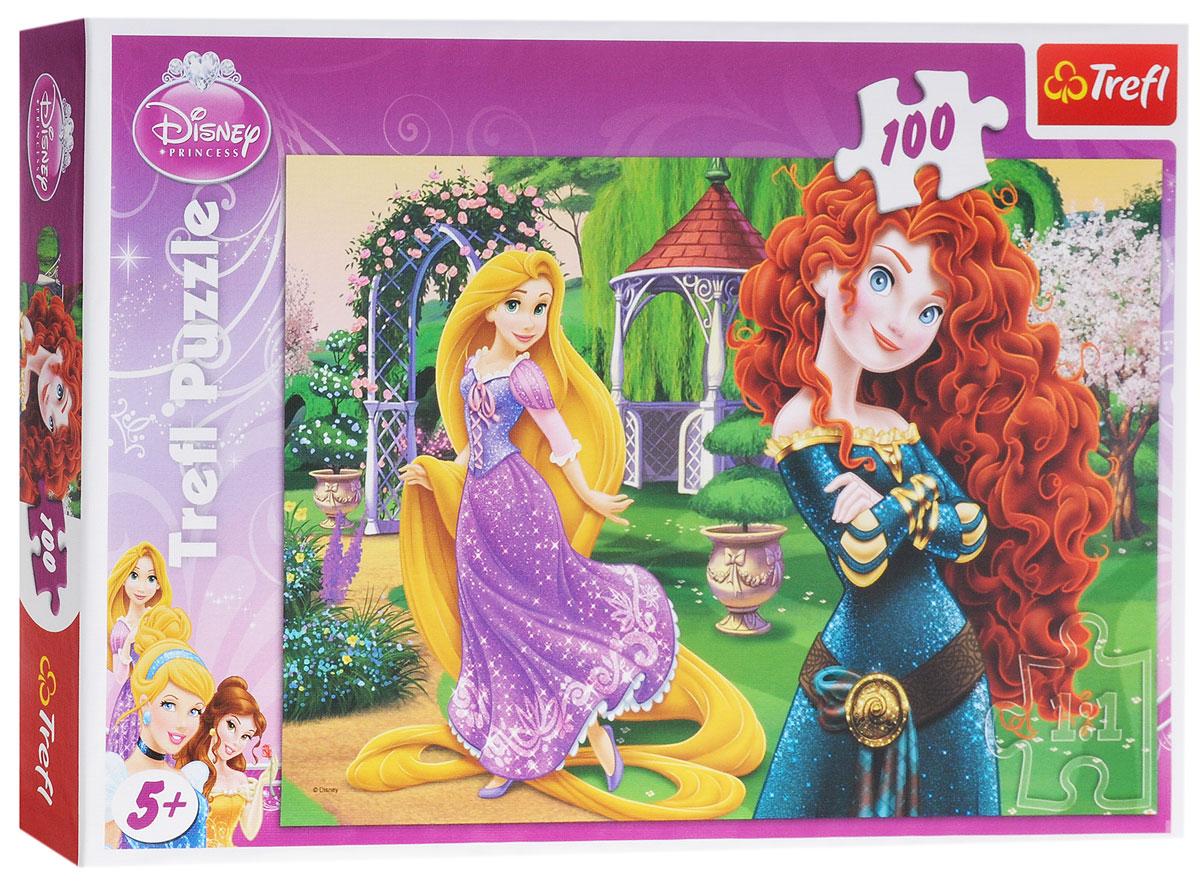 Trefl Пазл Веселые принцессы16199Пазл Trefl Веселые принцессы, без сомнения, придется по душе вашему ребенку. Собрав этот пазл, включающий в себя 100 элементов, ребенок получит картинку с изображением любимых героинь популярного мультфильма Диснея. Это оптимальное количество, которое делает пазл не слишком простым и не слишком сложным. Конечно же в первый раз вам нужно будет помочь малышке, однако вы удивитесь, как быстро она научится собирать картинку самостоятельно за рекордно короткое время! Собирание пазла поможет развить память, моторику рук, логику и усидчивость. Играть в пазл можно всей семьей или с друзьями. Главное начать, и тогда вы не сможете остановиться!