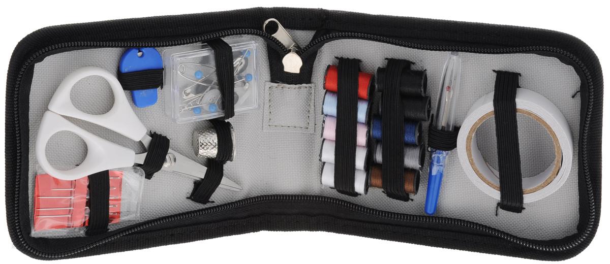 Набор дорожный Hobby&Pro, 35 предметов7712782Дорожный набор для шитья Hobby&Pro состоит из пенала, выполненного из полиэстера, внутри которого - все, что может понадобится в дороге для ремонта одежды. Состав набора: - ножницы, - 10 мотков ниток, - нитковдеватель, - 5 ручных игл, - вспарыватель, - наперсток, - 3 английских булавок, - 5 портновских булавок, - лента клеевая для временной фиксации ткани, - 6 рубашечных пуговиц. Длина ножниц: 11,5 см. Длина игл: 3 см, 4 см. Длина вспарывателя: 7 см. Размер наперстка: 1,9 см х 1,9 см х 1,7 см. Длина английских булавок: 3 см, 4,5 см. Длина портновских булавок: 3,5 см. Диаметр пуговиц: 1 см. Размер пенала (в собраном виде): 13 см х 11 см х 3 см.