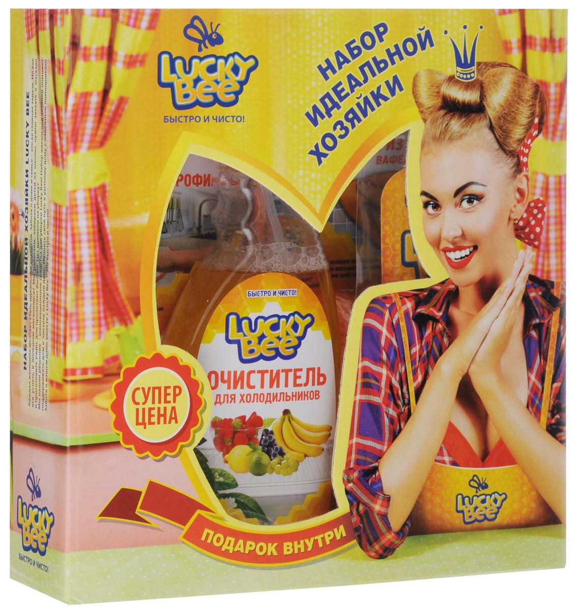 Набор для холодильника Lucky Bee, 3 предмета + ПОДАРОК: Блокнот-магнит на холодильникLB 7502+LB7209+LB7205Набор для холодильника Lucky Bee состоит из очистителя для холодильников, салфетки из микрофибры, блокнота-магнита для записей и вафельной салфетки из микрофибры. Очиститель для холодильников эффективно удаляет загрязнения с внутренних поверхности холодильников и морозильных камер. Уничтожает бактерии, вызывающие неприятные запахи и плесень.Придает обработанным поверхностям блеск и свежий аромат. Не требует смывания водой. Выпускается в форме спрея. Объем: 473 мл. Состав: деминерализованная вода, менее 5%: смесь неионогенных и анионных ПАВ, усилитель блеска, этилцеллозольв, нейтрализатор запахов, консервант, отдушка, краситель. Уникальная салфетка изготовлена из синтетических микроволокон. Изделие устойчиво к истиранию и отличается своей сверхмягкостью. Микрофибра многократно превосходит большинство тканей по влагопоглощающим свойствам благодаря особенности захватывать и удерживать жидкость. Салфетка деликатно...