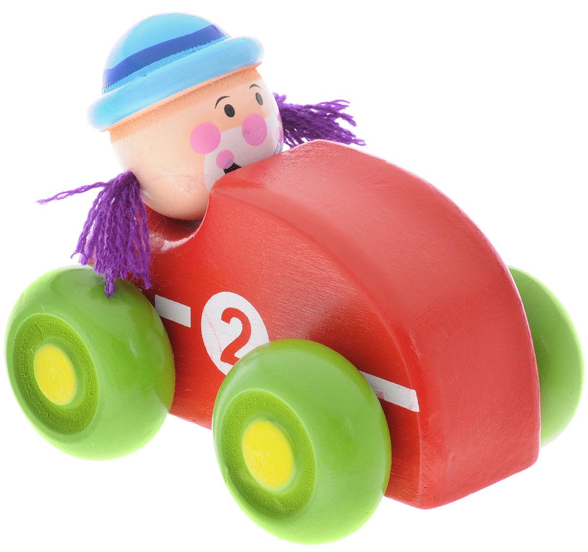 Mapacha Машинка Клоун красный76539_красныйМашинка Mapacha Клоун привлечет внимание вашего малыша. Яркая игрушка выполнена из экологически чистого дерева, выкрашенного нетоксичными красками, и представляет собой машинку с водителем. Колеса машинки свободно крутятся, благодаря чему малыш сможет катать игрушку. Сваи с колесами можно двигать из стороны в сторону. Машинка Mapacha Клоун способствует развитию у ребенка пространственного мышления, координации движений, воображения и мелкой моторики рук.