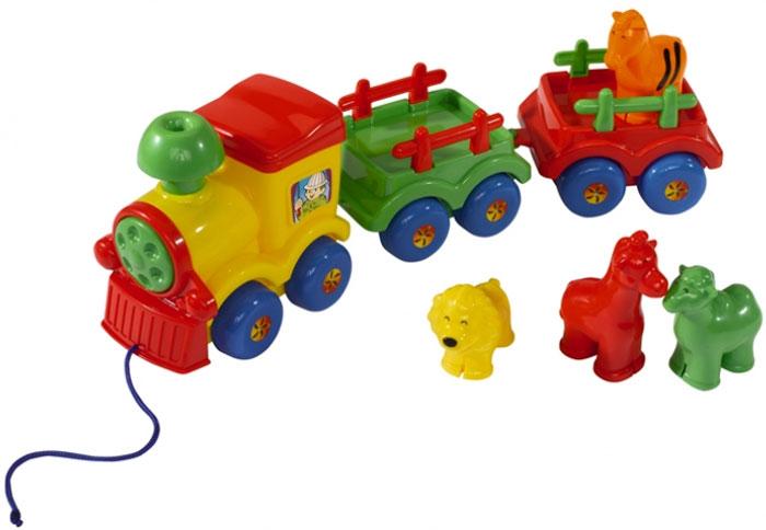 Simba Паровозик-каталка животных4017444Веселый паровозик предназначен для малышей от 12 месяцев.