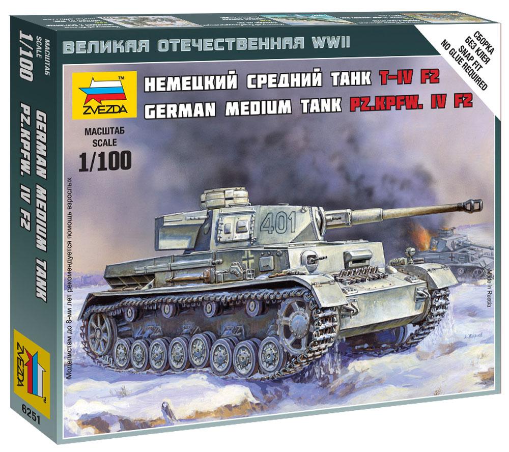 Звезда Сборная модель Немецкий средний танк T-IV F26251Звезда Сборная модель Немецкий средний танк T-IV F2