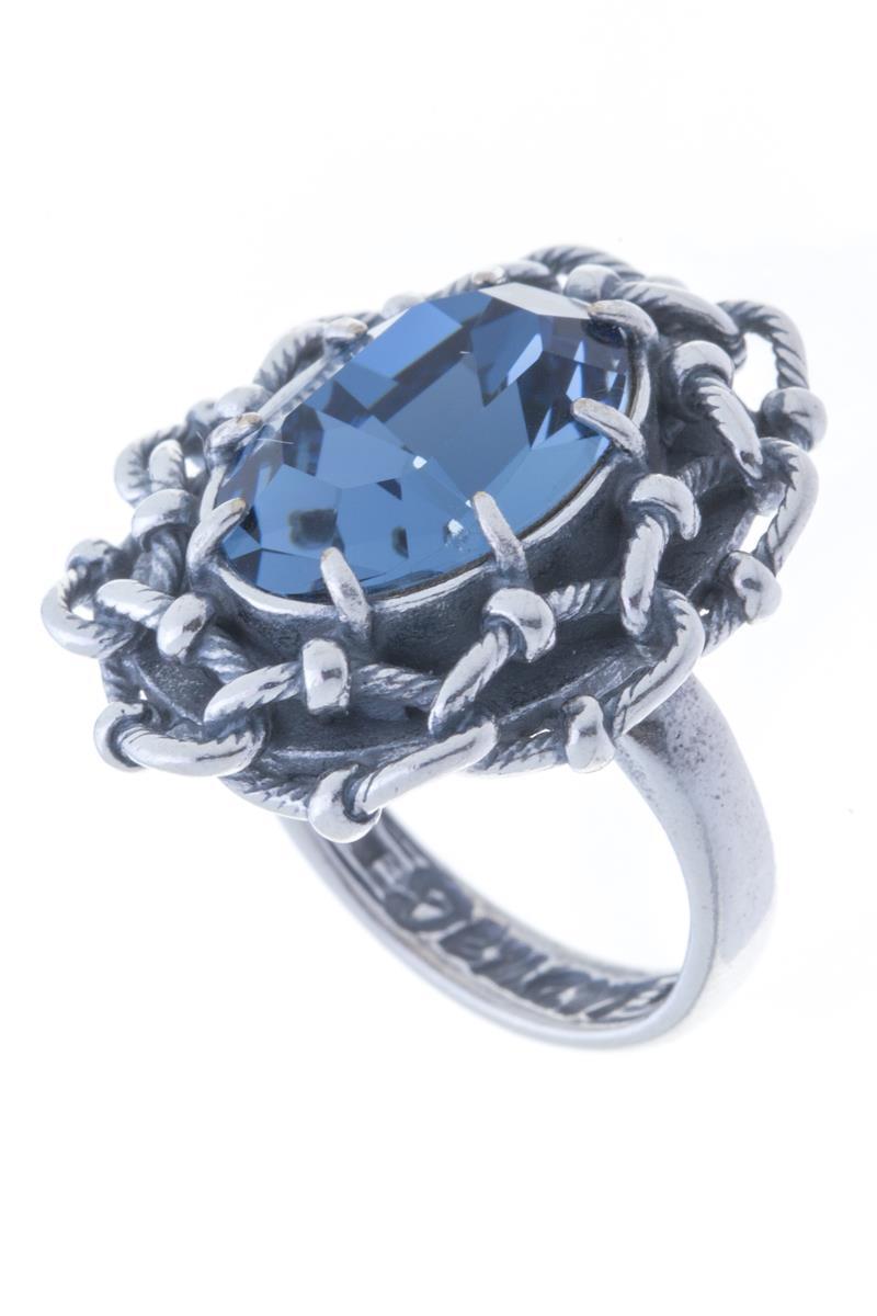 Кольцо Jenavi Эланта, цвет: серебряный, синий. h0453044. Размер 21h0453044_21Стильное кольцо Jenavi Эланта изготовлено из гипоаллергенного ювелирного сплава с покрытием из черненого серебра. Дополняют кольцо ажурный каст и граненый кристалл Swarovski. Стильное кольцо придаст вашему образу изюминку и подчеркнет индивидуальность.