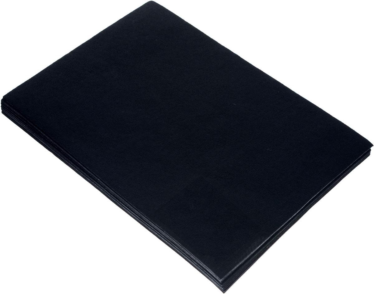 Фетр клеевой Hobby&You, цвет: черный (085), 20 х 30 см, 10 шт686522_085 черныйКлеевой фетр Hobby&You изготовлен из 100% полиэстера. Благодаря клеевому слою, легко приклеивается. Лист фетра можно использовать целиком или вырезать из него различные фигуры. Работать с фетром просто и удобно: он легко режется, не осыпаясь по краям, из него получаются отличные аппликации. Фетр используется для изготовления открыток ручной работы и скрап-страничек, для создания бижутерии и аксессуаров для волос, для декора мебели, изготовления ковриков, диванных подушек, подставок под горячее, сумок и многого другого. Толщина: 1,4 мм. Размер листа: 20 х 30 см.