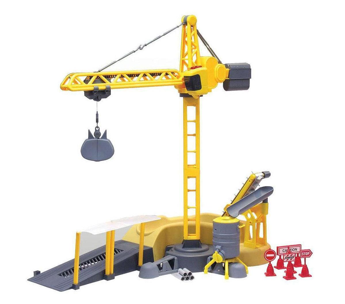 Silverlit Игровой набор на радиоуправлении Строительная площадка81117CИгровой набор на радиоуправлении Строительная площадка обязательно привлечет внимание вашего ребенка и понравится любому, кто увлекается строительной техникой. В наборе представлен подъемный кран и разнообразные аксессуары, без которых невозможно настоящее строительство. С помощью удобного пульта управления, кран поворачивает лебедку, цепляет груз и поднимает его. Движения крана сопровождаются звуковыми и световыми эффектами. Красивый дизайн и мощный двигатель позволяют получить максимум позитивных эмоций от игры. Радиоуправляемые игрушки способствуют развитию координации движений, моторики и ловкости. Ваш ребенок часами будет играть с набором, придумывая различные истории. Порадуйте его таким замечательным подарком! Игрушка работает от 3 батареек ААА (не входят в комплект). Пульт управления работает от 3 батареек АА (не входят в комплект).