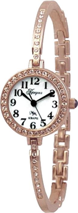 Часы женские наручные Mikhail Moskvin Каприз, цвет: золотой, белый. 521-8-1521-8-1Элегантные женские часы Mikhail Moskvin Каприз изготовлены из нержавеющей стали и минерального стекла. Корпус и браслет изделия оформлены стразами, циферблат дополнен перламутром. Корпус часов оснащен кварцевым механизмом, который имеет степень влагозащиты равную 3 Bar, а также устойчивым к царапинам минеральным стеклом. Браслет имеет жесткую конструкцию, повторяющую изгиб запястья. Практичный складной замок, предусмотренный в конструкции браслета, позволит снимать и надевать часы. Часы поставляются в фирменной упаковке. Часы Mikhail Moskvin Каприз подчеркнут изящность женской руки и отменное чувство стиля у их обладательницы.