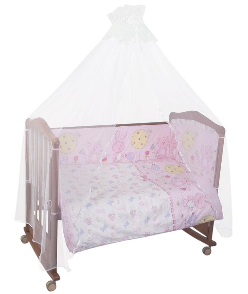 Комплект детского постельного белья Акварель, цвет: розовый, 3 предмета306/2Комплект детского постельного белья Акварель, цвет: розовый, 3 предмета
