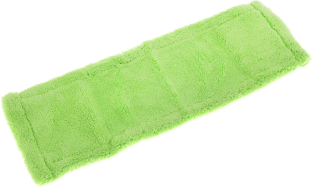 Насадка для швабры York Классик, сменная, цвет: салатовый. 81098109Сменная насадка для швабры York Классик изготовлена из микрофибры. Микрофибра обладает высокой износостойкостью, не царапает поверхности и отлично впитывает влагу. Насадка отлично удаляет большинство загрязнений. Насадка идеально подходит для мытья всех типов напольных покрытий. Она не оставляет разводов и ворсинок. Сменная насадка для швабры York Классик станет незаменимой в хозяйстве. Насадку можно стирать при температуре 40°С. Размер насадки: 40 х 14 х 1,5 см.