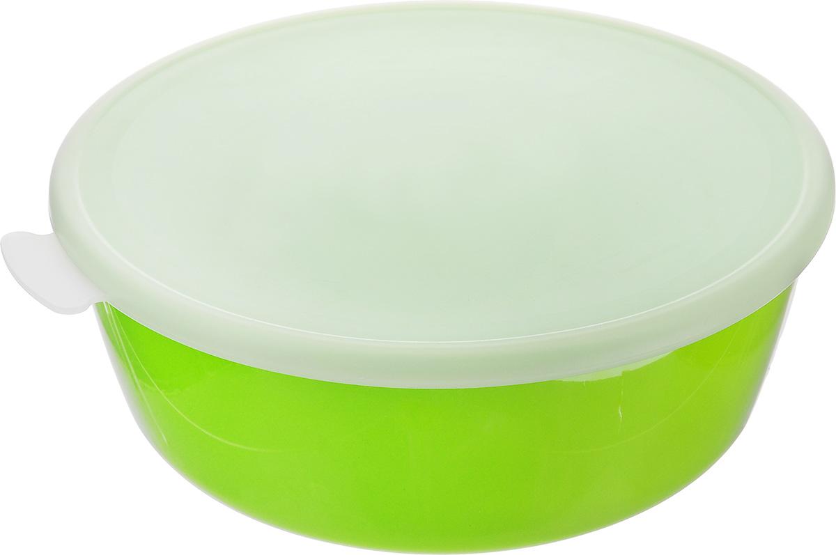 Миска Idea Прованс, с крышкой, цвет: салатовый, 2,5 лМ 1382Миска круглой формы Idea Прованс изготовлена из высококачественного пищевого полиэтилена и полистирола. Изделие очень функциональное, оно пригодится на кухне для самых разнообразных нужд: в качестве салатника, миски, тарелки. Герметичная крышка обеспечивает продуктам долгий срок хранения. Диаметр миски: 23 см. Высота миски: 8,5 см.
