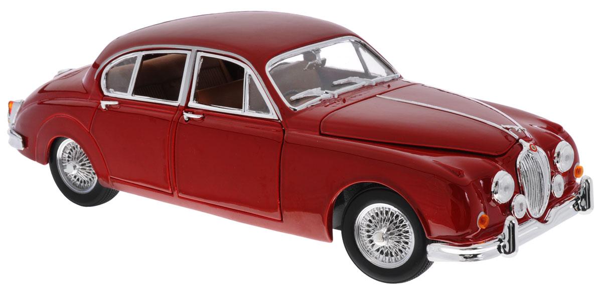 Bburago Модель автомобиля Jaguar Mark II 1959 цвет красный18-12009Модель автомобиля Bburago Jaguar Mark II предназначена для тех, кто любит роскошь и классические автомобили. Благодаря броской внешности, а также великолепной точности, с которой создатели этой модели масштабом 1:18 передали внешний вид настоящего автомобиля, машинка станет подлинным украшением любой коллекции авто. Машина будет долго служить своему владельцу благодаря металлическому корпусу с элементами из пластика. Двери модели, багажник и капот открываются. При повороте руля изменяют свое направление колеса. Шины обеспечивают отличное сцепление с любой поверхностью пола. Модель автомобиля Jaguar Mark II 1959 года выпуска обязательно понравится вашему ребенку и станет достойным экспонатом любой коллекции.
