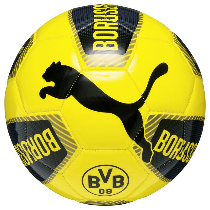 Puma Мяч тренировочный Puma BVB Fanwear Ball, цвет: черный, желтый. 08253401. Размер 5