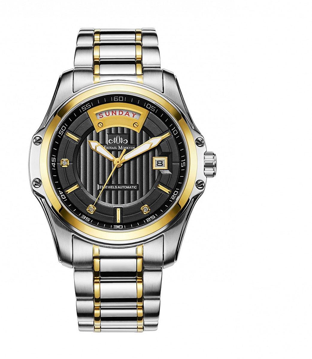 Наручные часы мужские Mikhail Moskvin, цвет: серебристый, золотой. 1218S4B31218S4B3Часы изготовлены из высокотехнологичной стали, оснащены механизмом с автоподзаводом. Обтекаемые формы и слегка загнутые ушки корпуса делают часы привлекательными и презентабельными.