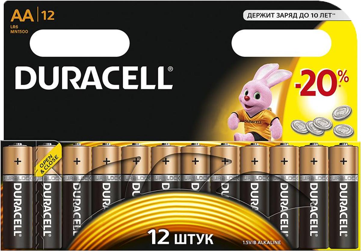 Набор алкалиновых батареек Duracell, тип AA, 12 штDRC-81480362Набор батареек Duracell - оптимальный выбор для использования в современных приборах. Особенно эффективны в таких изделиях как плееры, фонари, пульты дистанционного управления, фотовспышки, часы, диктофоны, электронные игрушки, переносные ТВ и т.д. Щелочной элемент питания батареек работает до 10 раз дольше, по сравнению с обычными солевыми батарейками. Характеристики: Тип элемента питания: AA (LR6). Тип электролита: щелочной. Выходное напряжение: 1,5 В. Комплектация: 12 шт. Размер упаковки: 17 см х 12 см х 1,5 см. Артикул: DRC-81367213.