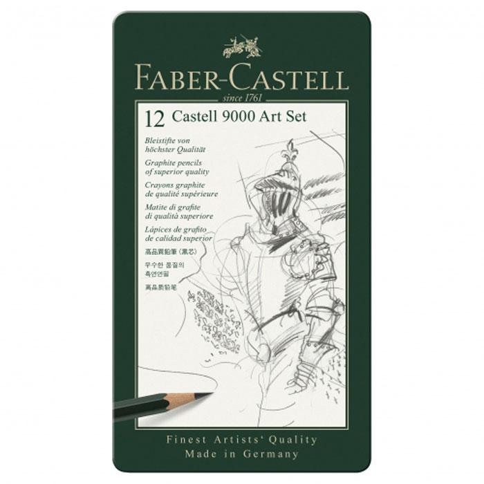 Faber-Castell Карандаш чернографитовый 12 шт119065Карандаши Faber Castell CASTELL 9000 119065 выполнены из чистого графита и имеют шестигранную форму. Каждый карандаш в наборе имеет штриховой код. Благодаря качеству мягкой древесины, из которой изготовлены карандаши, обеспечивается легкое затачивание. Твердость карандашей - 8B, 7B, 6B, 5B, 4B, 3B, 2B, B, HB, F, H, 2H. Вид карандаша: Простой. Твердость грифеля: 8B, 7B, 6B, 5B, 4B, 3B, 2B, B, HB, F, H, 2H. Материал: дерево.