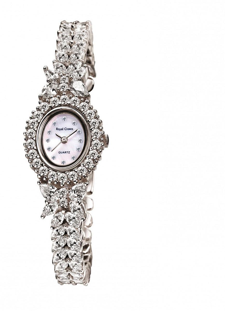 Наручные часы женские Royal Crown, цвет: серебристый. 2527-B17-RDM-52527-B17-RDM-5Royal Crown- воплощение безукоризненного стиля и надежности.Это изысканный итальянский дизайн,высококачественные механизмы.