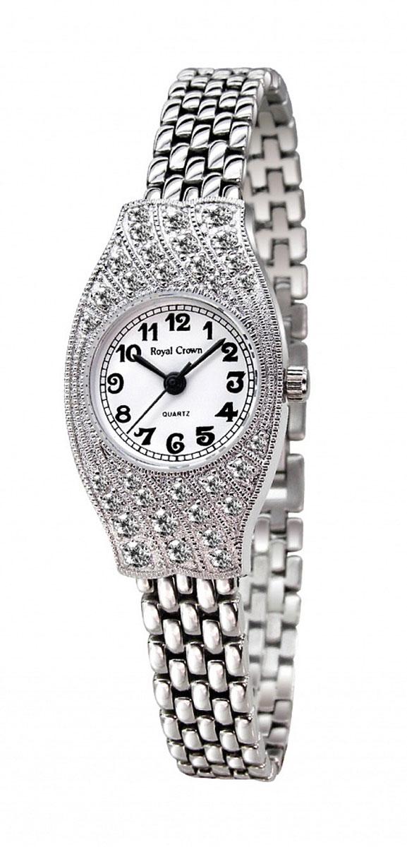 Наручные часы женские Royal Crown, цвет: серебристый. 2502S-RDM-62502S-RDM-6Royal Crown- воплощение безукоризненного стиля и надежности.Это изысканный итальянский дизайн,высококачественные механизмы.