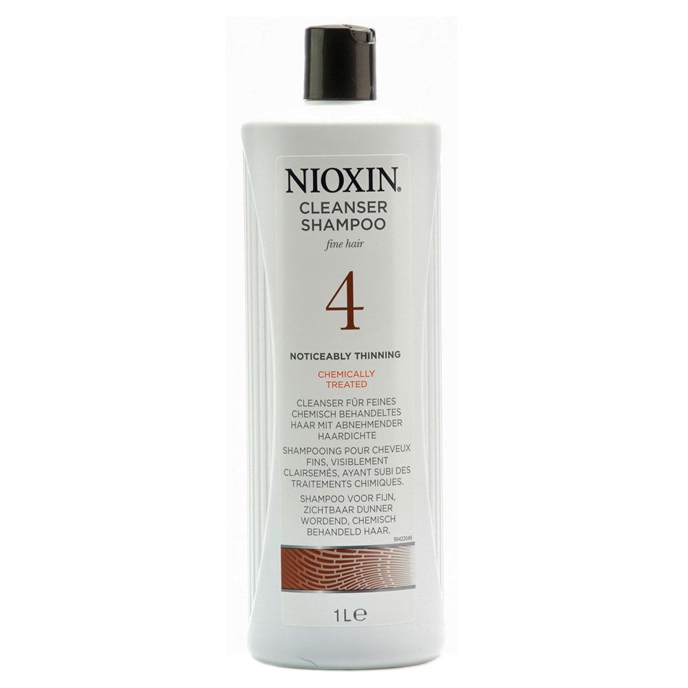 Nioxin Cleanser Очищающий шампунь (Система 4) System 4, 1000 мл81274162Шампунь очищающий Система 4 Cleanser System 4 Nioxin предназначен для тонких и ослабленных волос, которые были агрессивно окрашены или подверглись химической обработке. Средство нейтрализует остатки химии и защищает волосы от внешнего влияния. Также шампунь от Ниоксин увлажняет кожу головы и заботится об интенсивности цвета окрашенных волос.