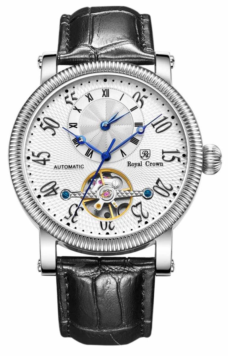Наручные часы мужские Royal Crown, цвет: серебристый. 8306S-B-RDM-18306S-B-RDM-1Часы изготовлены из высокотехнологичной стали .В каждой модели коллекции виден характер, яркий и незаурядный.