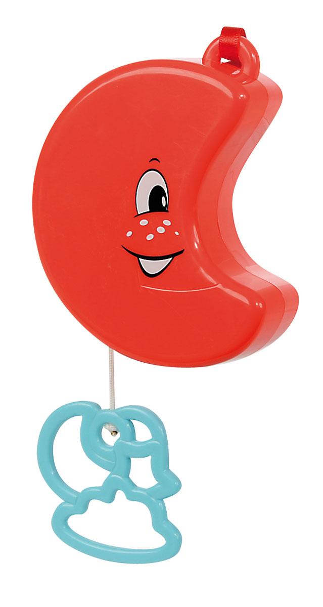 Simba Музыкальная подвеска Луна4017149_красныйМузыкальная игрушка-подвеска Simba Луна изготовлена из яркого безопасного пластика в виде улыбающейся красной луны со шнурком и кольцом-облачком. Если вы потяните за пластиковое кольцо вниз, малыш услышит негромкую успокаивающую мелодию, которая поможет ему притихнуть и заснуть. Подвеска, проигрывает красивую мелодию, которая заменит наскучившие колыбельные. Крепится к кроватке с помощью специальной петельки и ленты. Игрушка-подвеска Simba Солнышко развивает слух, зрительно-цветовое восприятие и обладает релаксирующим воздействием.