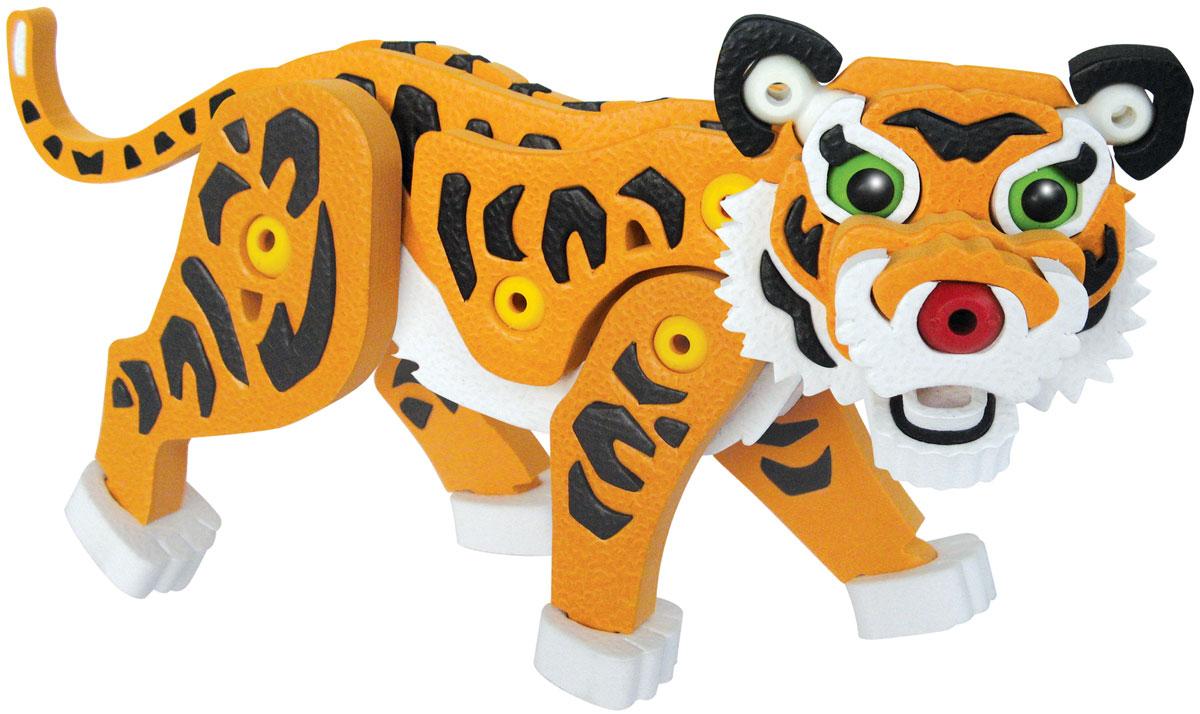 Bebelot 3D мягкий конструктор ТигрBEB0706-004Мягкий конструктор Bebelot Тигр привлечет внимание вашего ребенка и не позволит ему скучать. Конструктор состоит из 50 деталей, собрав которые, ребенок получит симпатичного и объемного тигра. Разноцветные детали с легкостью надежно крепятся друг к другу за счет специальных крепежей и выступов. Размер составных элементов конструктора очень удобен для того, чтобы ребенку было комфортно в него играть. Собирая конструктор, ребенок разовьет внимание, воображение, мелкую моторику рук, пространственное и логическое мышление, а собранная своими руками игрушка будет для него гораздо дороже, чем готовая - ведь он вложил в нее свой драгоценный труд.