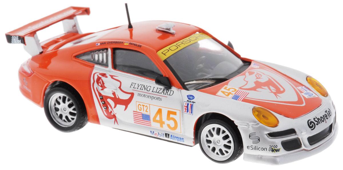Bburago Модель автомобиля Ралли Porsche 911 GT318-38003Модель автомобиля Bburago Ралли. Porsche 911 GT3 предназначена для тех, кто любит роскошь и высокие скорости. Благодаря броской внешности, а также великолепной точности, с которой создатели этой модели масштабом 1:43 передали внешний вид настоящего автомобиля, модель станет подлинным украшением любой коллекции авто. Машина будет долго служить своему владельцу благодаря металлическому корпусу с элементами из пластика. Шины обеспечивают отличное сцепление с любой поверхностью пола. Модель автомобиля Bburago Ралли. Porsche 911 GT3 обязательно понравится вашему ребенку и станет достойным экспонатом любой коллекции.