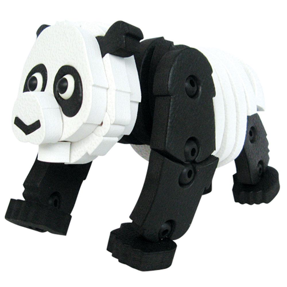 Bebelot 3D мягкий конструктор ПандаBEB0706-003Мягкий конструктор Bebelot Панда привлечет внимание вашего ребенка и не позволит ему скучать. Конструктор состоит из 72 деталей, собрав которые, ребенок получит симпатичную и объемную панду. Детали с легкостью крепятся друг к другу за счет специальных крепежей и выступов. Размер составных элементов конструктора очень удобен для того, чтобы ребенку было комфортно в него играть. Собирая конструктор, ребенок разовьет внимание, воображение, мелкую моторику рук, пространственное и логическое мышление, а собранная своими руками игрушка будет для него гораздо дороже, чем готовая - ведь он вложил в нее свой драгоценный труд.