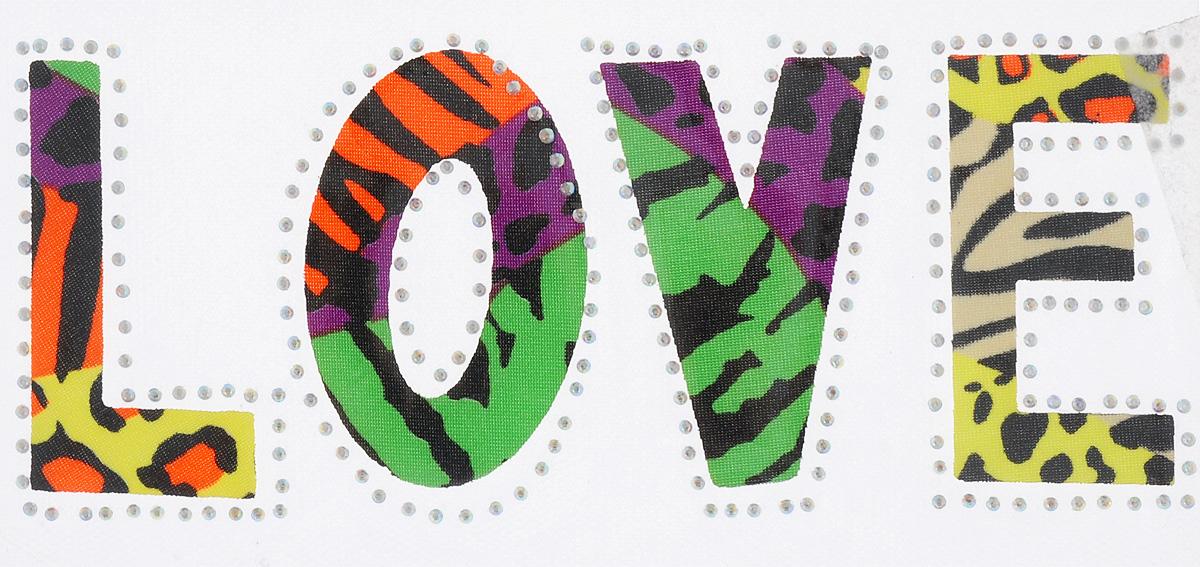 Термоаппликация Hobby&Pro Love, цвет: сиреневый, зеленый, оранжевый, 9,5 х 19,5 см7713570_5 разноцветныйКлеевая термоаппликация Hobby&Pro Love изготовлена из текстиля. Изделие выполнено в виде надписи Love, оформлено сверкающими стразами и ярким разноцветным принтом. Термоаппликация с обратной стороны оснащена клеевым слоем, благодаря которому при помощи утюга вы сможете быстро и легко закрепить изделие на ткани. С такой термоаппликацией любая вещь станет особенной.
