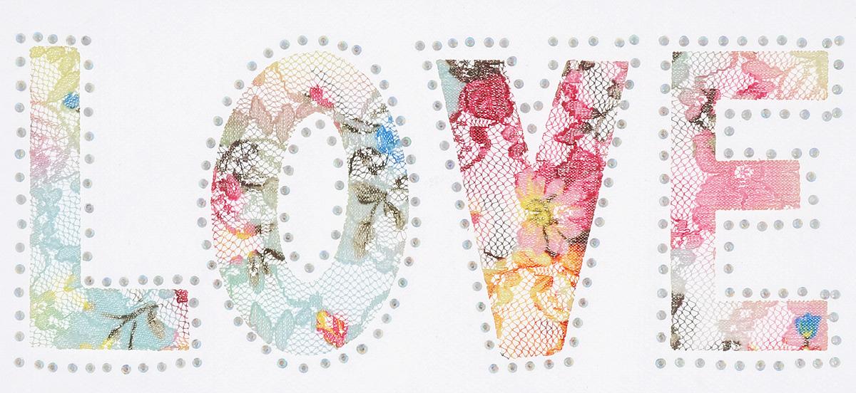 Термоаппликация Hobby&Pro Love, цвет: желтый, розовый, голубой, 9,5 см х 19,5 см7713570_6 нежностьКлеевая термоаппликация Hobby&Pro Love изготовлена из текстиля. Изделие выполнено в виде надписи Love, оформлено сверкающими стразами и ярким разноцветным цветочным принтом. Термоаппликация с обратной стороны оснащена клеевым слоем, благодаря которому при помощи утюга вы сможете быстро и легко закрепить изделие на ткани. С такой термоаппликацией любая вещь станет особенной.