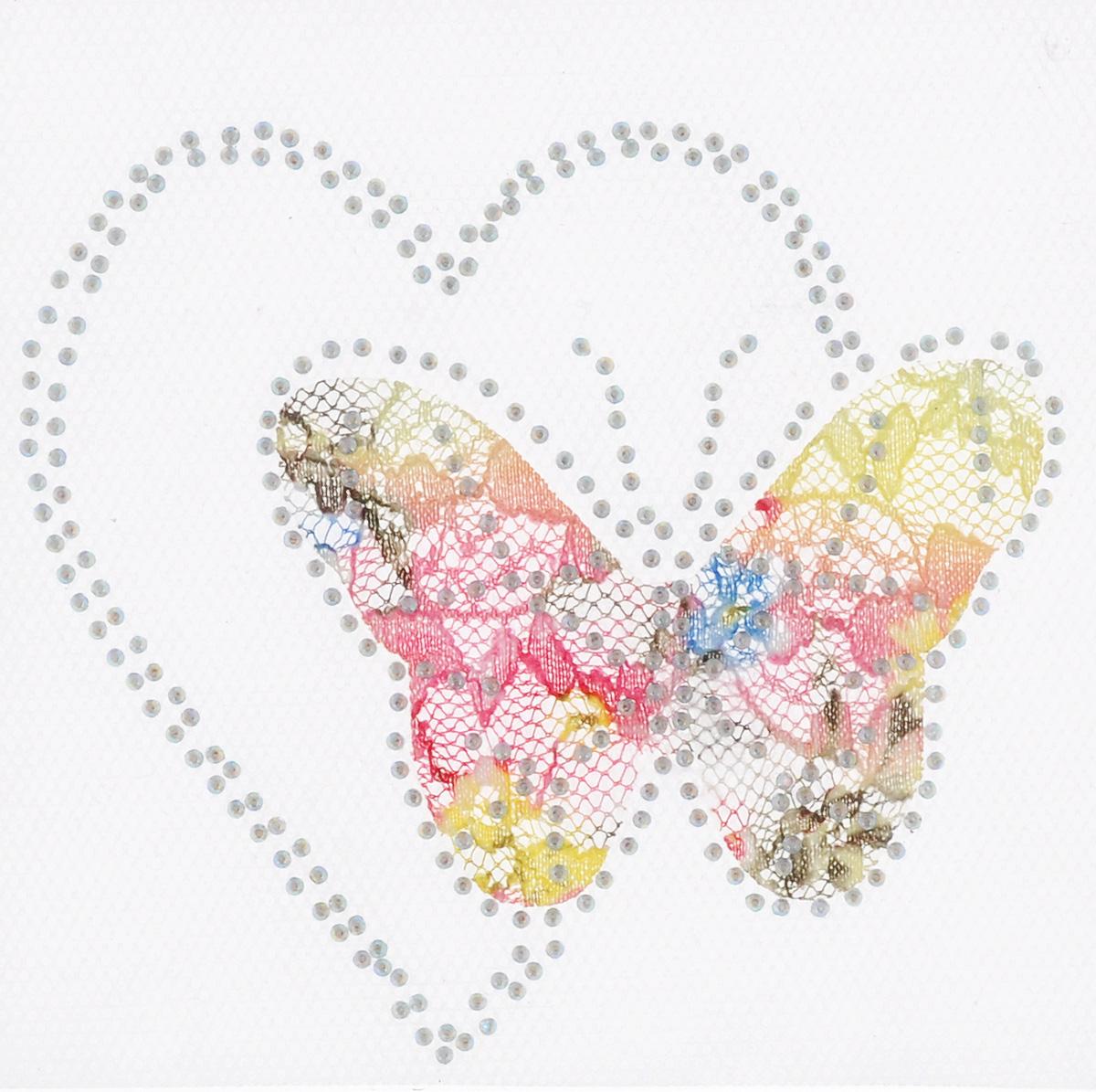 Термоаппликация Hobby&Pro Бабочка с сердцем, цвет: розовый, желтый, 10 см х 10 см7713587_6 нежностьКлеевая термоаппликация Hobby&Pro Бабочка с сердцем изготовлена из текстиля. Изделие оформлено сверкающими стразами. Термоаппликация с обратной стороны оснащена клеевым слоем, благодаря которому при помощи утюга вы сможете быстро и легко закрепить изделие на ткани. С такой термоаппликацией любая вещь станет особенной.