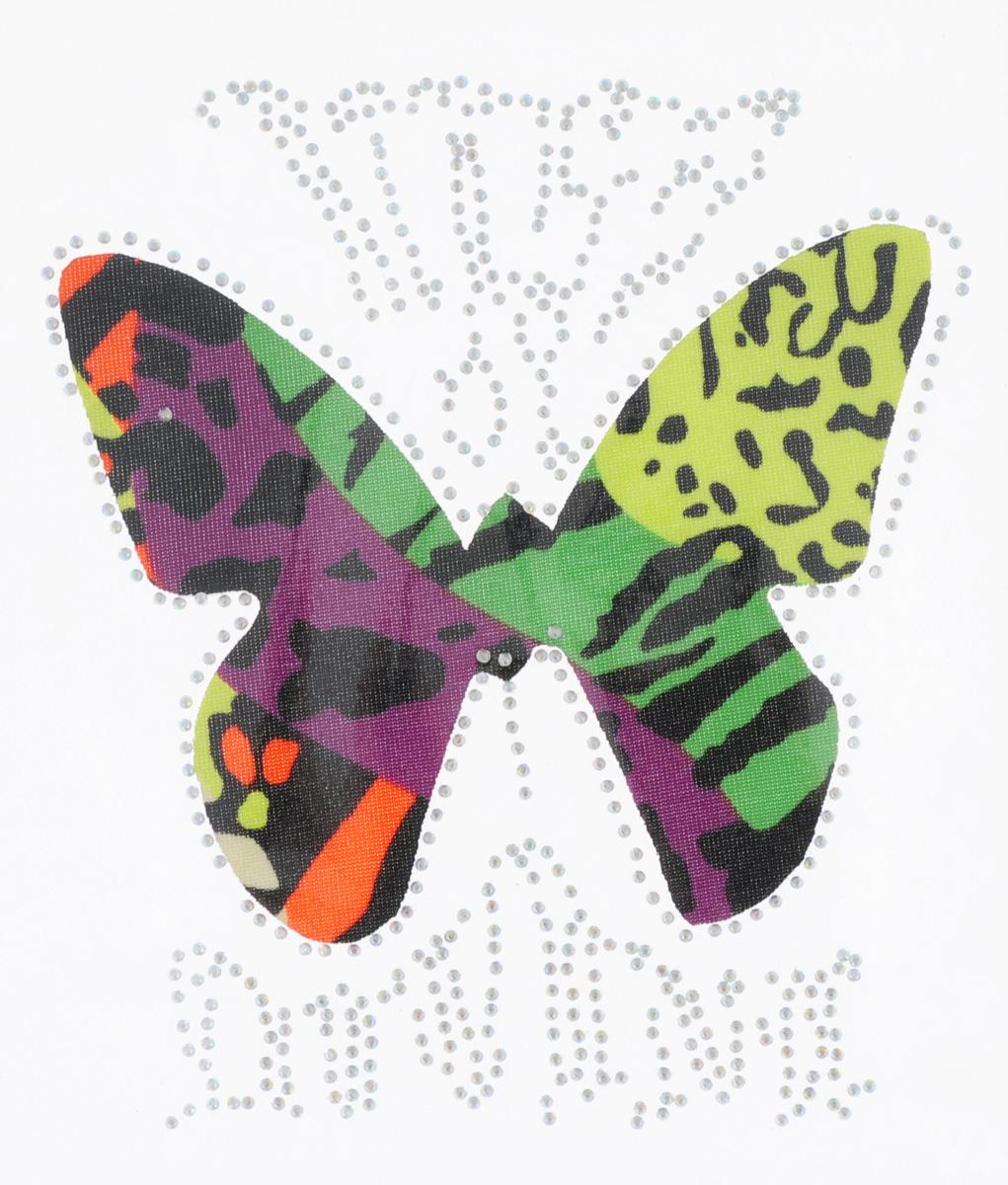 Термоаппликация Hobby&Pro Бабочка с короной, цвет: желтый, зеленый, фиолетовый, 15 х 13 см7713588_5 разноцветныйКлеевая термоаппликация Hobby&Pro Бабочка с короной изготовлена из текстиля. Изделие оформлено сверкающими стразами и ярким разноцветным принтом. Термоаппликация с обратной стороны оснащена клеевым слоем, благодаря которому при помощи утюга вы сможете быстро и легко закрепить изделие на ткани. С такой термоаппликацией любая вещь станет особенной.