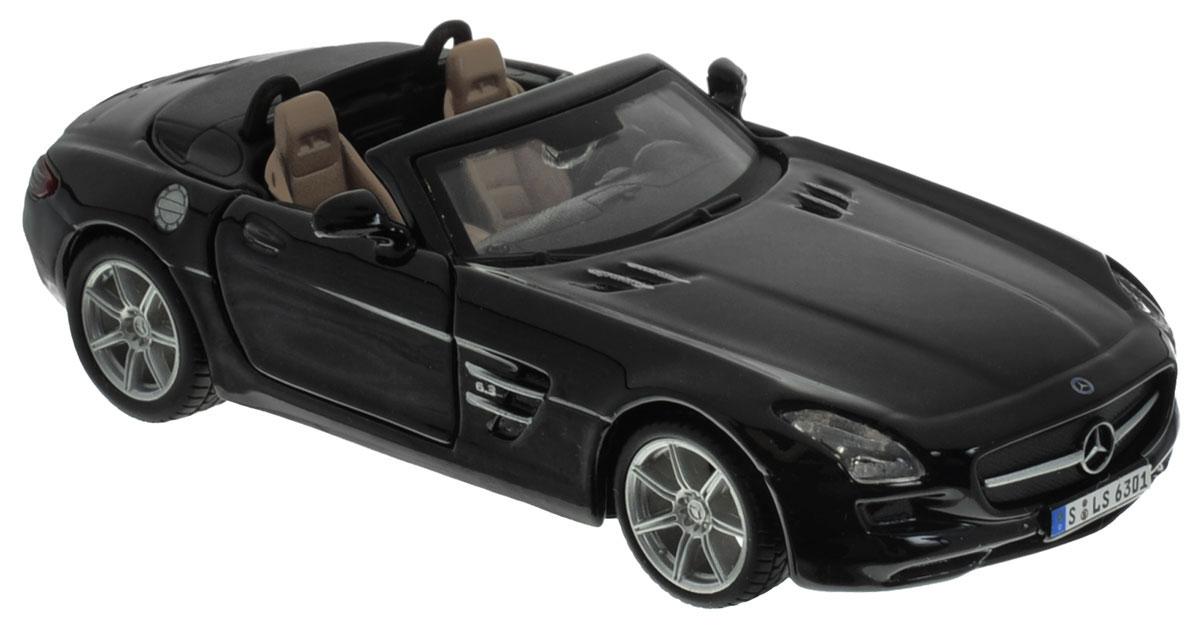 Bburago Модель автомобиля Mercedes-Benz SLS AMG Roadster18-43035Модель автомобиля Bburago Mercedes-Benz SLS AMG Roadster привлечет к себе внимание не только детей, но и взрослых. Модель представлена в масштабе 1:32 и в точности воспроизводит все детали внешнего облика реального автомобиля. Корпус автомобиля выполнен из металла с использованием пластиковых элементов, колеса прорезинены. Модель оборудована открывающимися дверцами и подвижными колесами. Во время игры с такой машинкой у ребенка развивается мелкая моторика рук, фантазия и воображение.