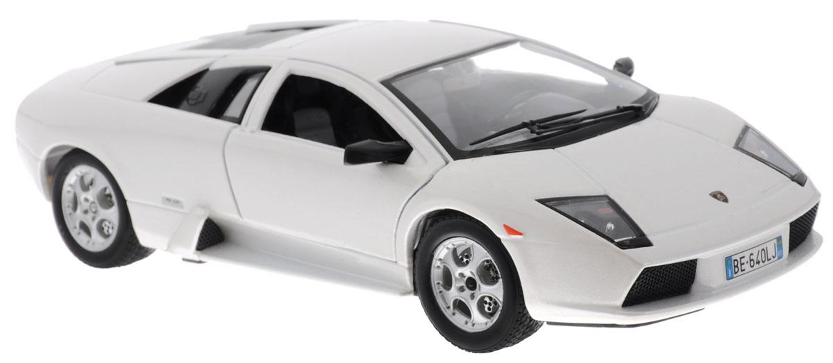 Bburago Модель автомобиля Lamborghini Murcielago18-22054Модель автомобиля Bburago Lamborghini Murcielago будет отличным подарком как ребенку, так и взрослому коллекционеру. Благодаря броской внешности, а также великолепной точности, с которой создатели этой модели масштабом 1:24 передали внешний вид настоящего автомобиля, модель станет подлинным украшением любой коллекции авто. Машина будет долго служить своему владельцу благодаря металлическому корпусу с элементами из пластика. Дверцы машины открываются, шины обеспечивают отличное сцепление с любой поверхностью пола. Модель автомобиля Bburago Lamborghini Murcielago обязательно понравится вашему ребенку и станет достойным экспонатом любой коллекции.